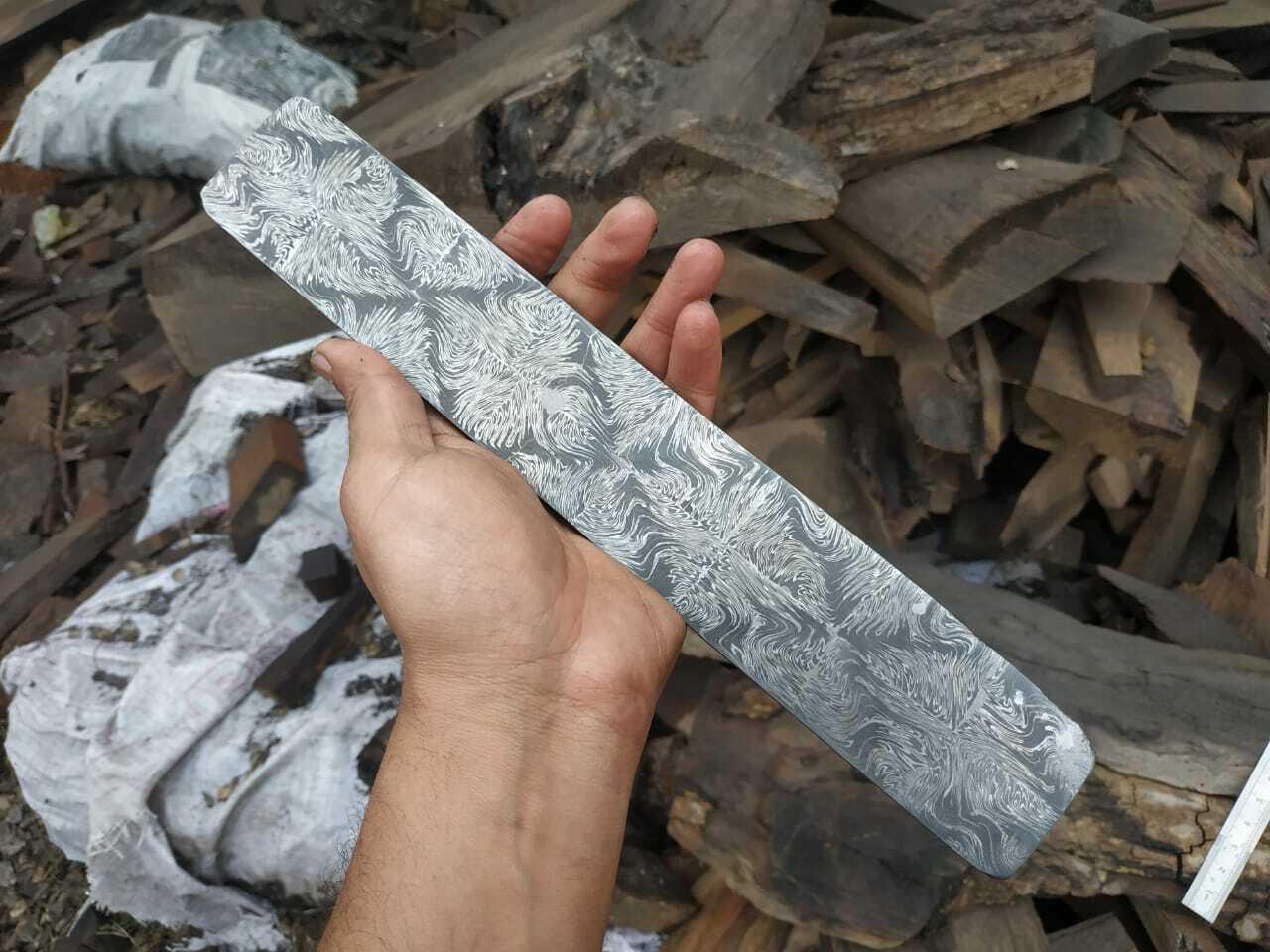 Damascus Mosaic Pattern Billet for Knife Making