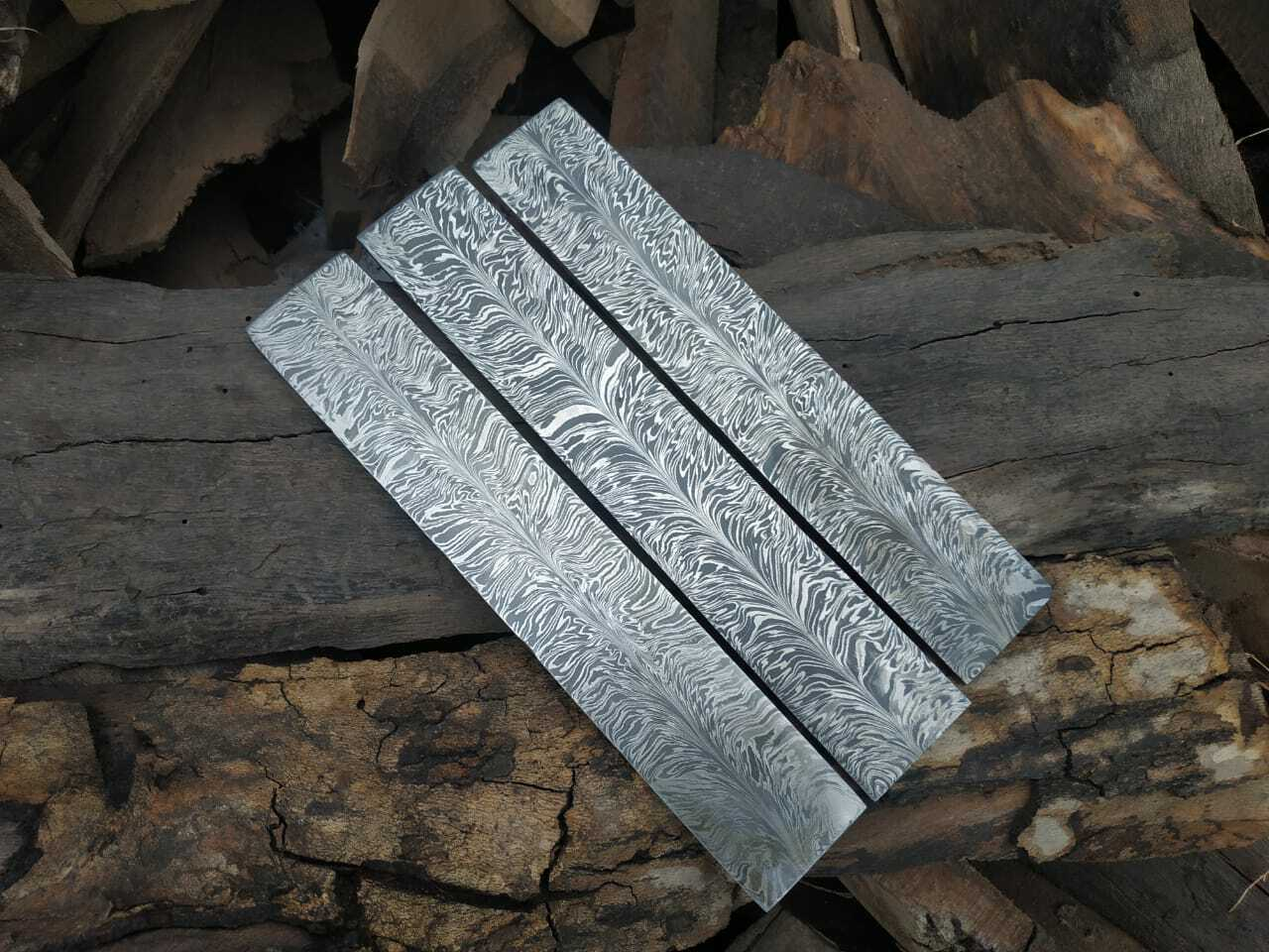 Damascus Feather Pattern for Knife Making